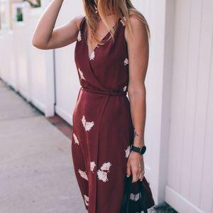 Ann Taylor Summer Blossom Floral Midi Dress NWT